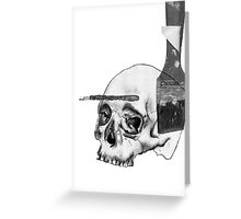 Greyscale Brush With Death Greeting Card