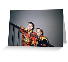 Found Photo Halloween Card - Devil & Pirate Greeting Card