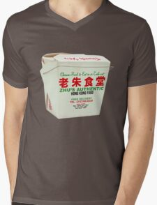 Zhus Authentic Hong Kong Food Take Out Box Mens V-Neck T-Shirt