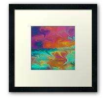 Abstract Art Fluro Nature  Framed Print