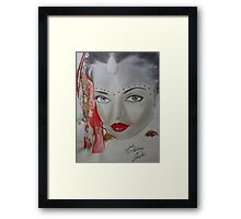 BEAUTIFUL INDONESIAN WOMAN/ SKETCH Framed Print