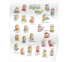 Affiche langage des signes de bébé Poster
