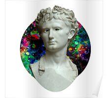 Trippy Greek Bust Poster