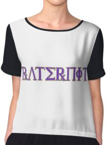 Fraternity - Special-Tee Chiffon Top