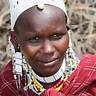 Portrait, Maasai (or Masai) Woman, East Africa  by Carole-Anne