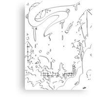 Ink City Canvas Print