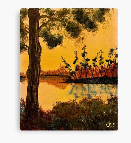Bayou Sunset by Leslie Berg Canvas Print