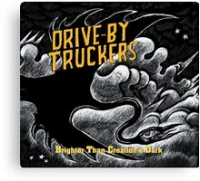 drive by truckers black wulan Canvas Print