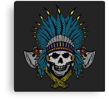 Indian Skull Head dress Canvas Print