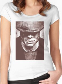 Peaky Blinders - Tommy Shelby Women's Fitted Scoop T-Shirt