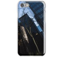 A Study in Contrasts - Downtown Toronto Miniature Park - Left iPhone Case/Skin