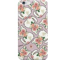 Purple Cat Floral iPhone Case/Skin
