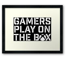 Gamers Play On The Box Framed Print