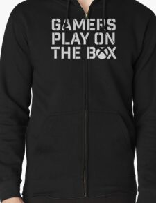 Gamers Play On The Box Zipped Hoodie