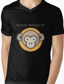 Code Monkey Mens V-Neck T-Shirt