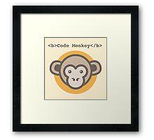 Code Monkey Framed Print