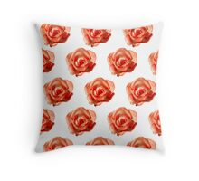 Orange roses on a white background Throw Pillow