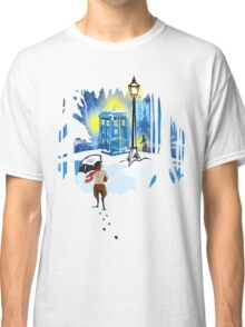 The Lion, The Doctor, and the Tardis Classic T-Shirt