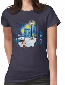 The Lion, The Doctor, and the Tardis Womens Fitted T-Shirt