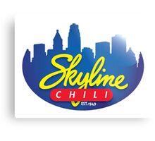 Cincinnati Skyline Chili Metal Print