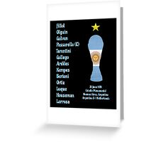 Argentina 1978 World Cup Final Winners Greeting Card