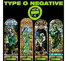 type o negative black window Photographic Print