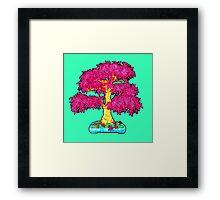 hot pink maple bonsai  Framed Print