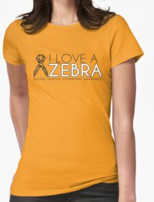 I Love A Zebra (Ehlers Danlos Syndrome Awareness) Womens Fitted T-Shirt