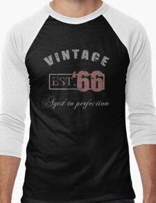 Vintage 1966 Grunge Men's Baseball ¾ T-Shirt