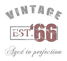 Vintage 1966 Grunge Photographic Print