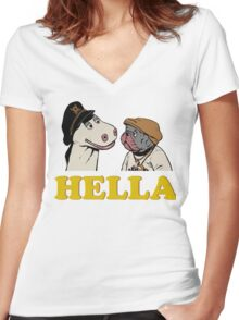 Charlie and Humphrey HELLA Women's Fitted V-Neck T-Shirt