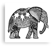 Patterned Elephant Canvas Print