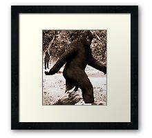 Bigfoot vs. The Rev. Daisher Rocket Framed Print