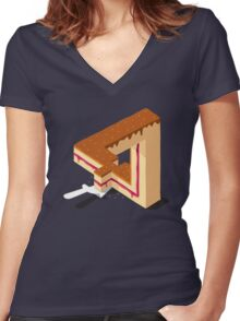 Layer Cake Women's Fitted V-Neck T-Shirt