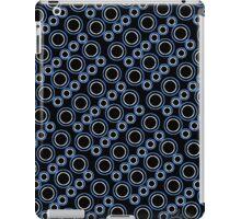 Graphic Circle Shapes Design blue white black 519J iPad Case/Skin