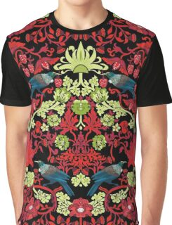 Flowers & Tui - NZ Colours Graphic T-Shirt