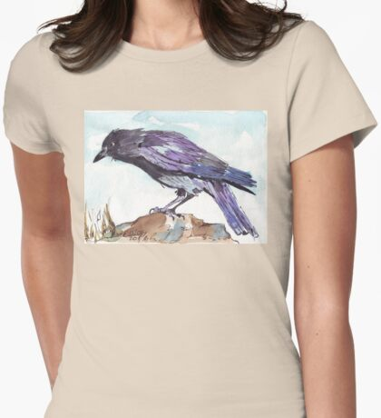 The playful Crow - Coco Womens Fitted T-Shirt