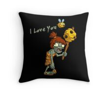 Plants vs Zombies  I Love You Throw Pillow