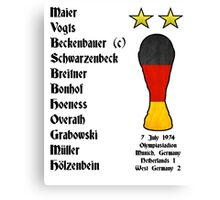West Germany 1974 World Cup Final Winners Canvas Print