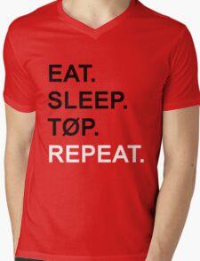 EAT. SLEEP. TØP. REPEAT. Mens V-Neck T-Shirt