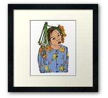 Girl With Headdress Framed Print