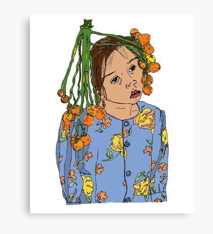 Girl With Headdress Canvas Print