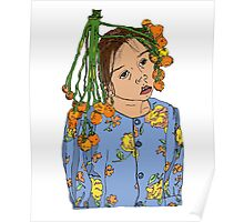 Girl With Headdress Poster