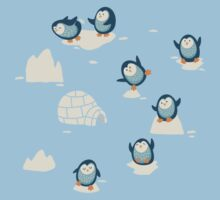 Penguins on ice One Piece - Short Sleeve
