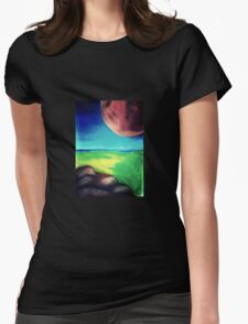 Alien seascape Womens Fitted T-Shirt