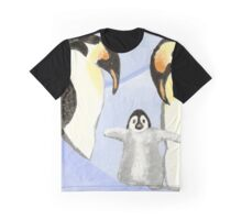 Penguin Family Graphic T-Shirt