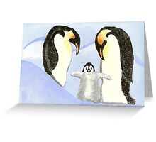 Penguin Family Greeting Card