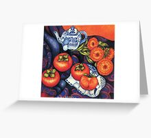 Thai Elephants with Persimmons Greeting Card