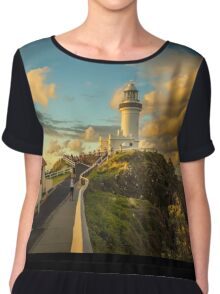 They gather to watch the Sunset at Byron Bay Lighthouse Chiffon Top