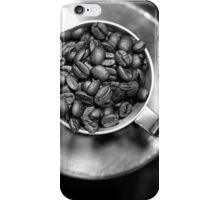 Coffee beans with black and white iPhone Case/Skin